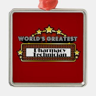 World's Greatest Pharmacy Technician Metal Ornament
