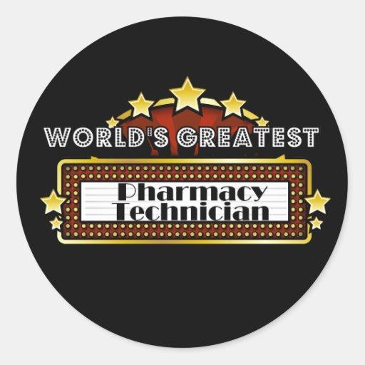 World's Greatest Pharmacy Technician Classic Round Sticker