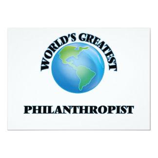 "World's Greatest Philanthropist 5"" X 7"" Invitation Card"