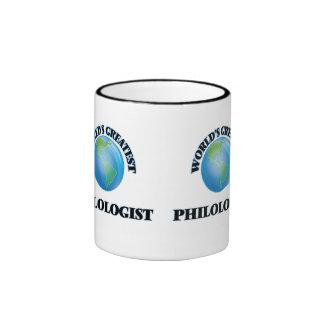 World's Greatest Philologist Ringer Coffee Mug