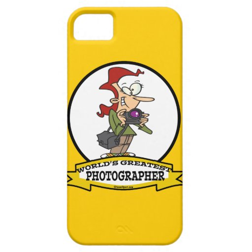 WORLDS GREATEST PHOTOGRAPHER CARTOON iPhone 5 COVER