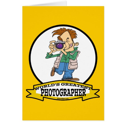WORLDS GREATEST PHOTOGRAPHER IV MEN CARTOON GREETING CARD