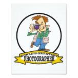 WORLDS GREATEST PHOTOGRAPHER IV MEN CARTOON 4.25X5.5 PAPER INVITATION CARD