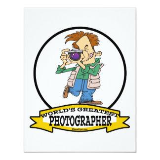 "WORLDS GREATEST PHOTOGRAPHER IV MEN CARTOON 4.25"" X 5.5"" INVITATION CARD"