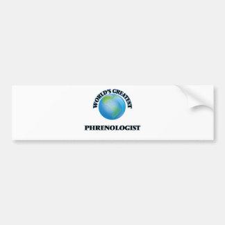 World's Greatest Phrenologist Bumper Sticker