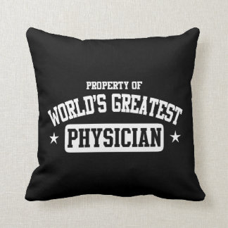 World's Greatest Physician Throw Pillow