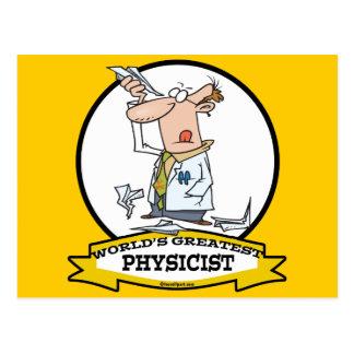 WORLDS GREATEST PHYSICIST MEN CARTOON POSTCARD