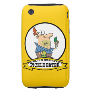WORLDS GREATEST PICKLE EATER MEN CARTOON iPhone 3 TOUGH COVER