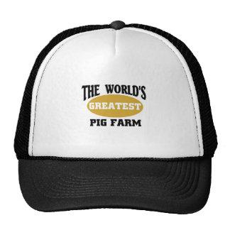 World's greatest pig farm hat