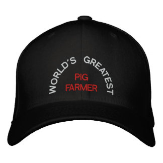 WORLD'S GREATEST, PIG FARMER EMBROIDERED BASEBALL HAT
