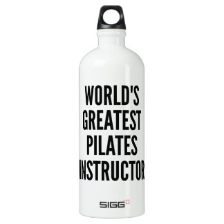 Worlds Greatest Pilates Instructor Water Bottle