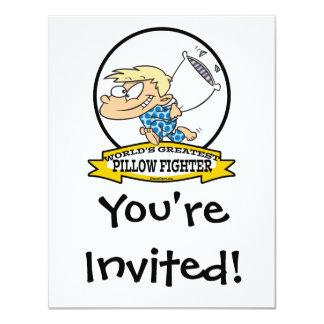 WORLDS GREATEST PILLOW FIGHTER KIDS CARTOON CARD