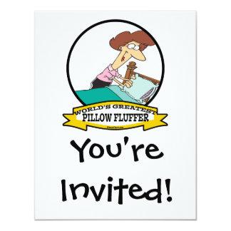 WORLDS GREATEST PILLOW FLUFFER WOMEN CARTOON CARD