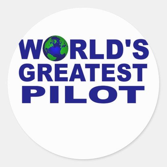 World's Greatest Pilot Classic Round Sticker
