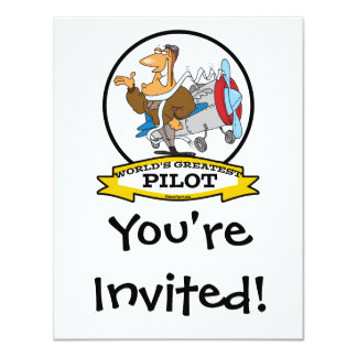 WORLDS GREATEST PILOT II MEN CARTOON CARD
