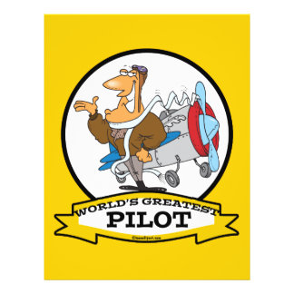 WORLDS GREATEST PILOT II MEN CARTOON FLYER