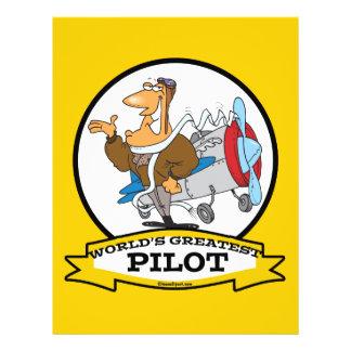 WORLDS GREATEST PILOT II MEN CARTOON FLYER