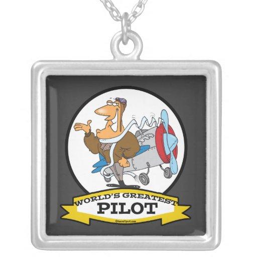 WORLDS GREATEST PILOT II MEN CARTOON PENDANTS