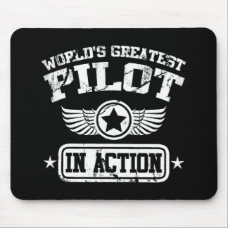 World's Greatest Pilot In Action Mouse Pad