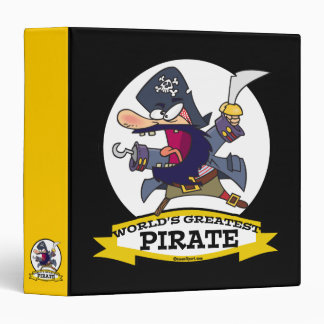 WORLDS GREATEST PIRATE CARTOON 3 RING BINDER