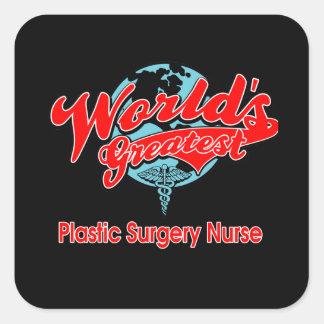 World's Greatest Plastic Surgery Nurse Square Sticker