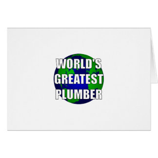 World's Greatest Plumber Card