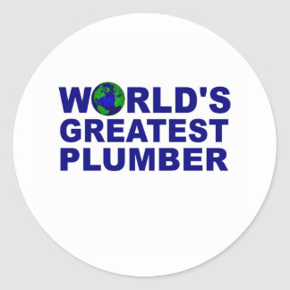 World's Greatest Plumber Classic Round Sticker