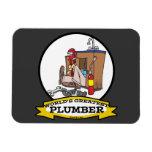 WORLDS GREATEST PLUMBER III MEN CARTOON RECTANGULAR PHOTO MAGNET