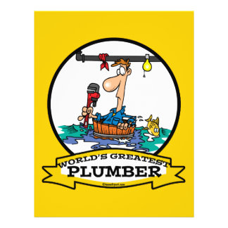 WORLDS GREATEST PLUMBER IV MEN CARTOON FLYER