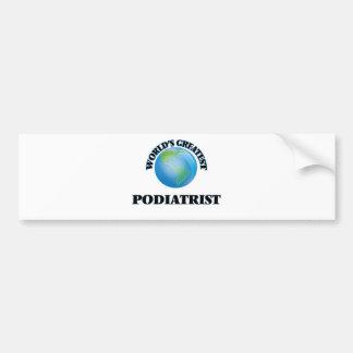 World's Greatest Podiatrist Bumper Sticker