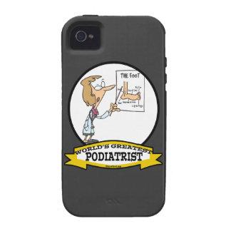 WORLDS GREATEST PODIATRIST WOMEN CARTOON CASE FOR THE iPhone 4