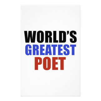 World's greatest poet stationery paper