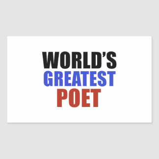 World's greatest poet rectangle stickers