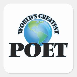 World's Greatest Poet Stickers