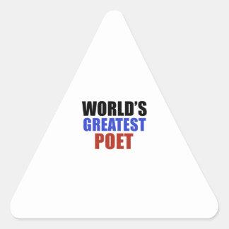 World's greatest poet triangle sticker