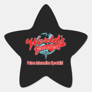 World's Greatest Poison Information Specialist Star Sticker