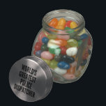 "Worlds Greatest Police Dispatcher Glass Candy Jar<br><div class=""desc"">This text design featuring the phrase &quot;World&#39;s Greatest Police Dispatcher&quot; is perfect for any great police dispatcher.</div>"