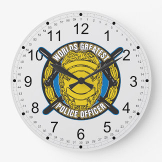 Worlds Greatest Police Officer Large Clock