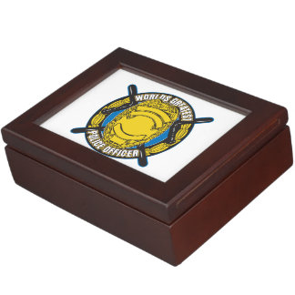 Worlds Greatest Police Officer Memory Box