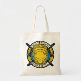Worlds Greatest Police Officer Tote Bag
