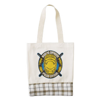 Worlds Greatest Police Officer Zazzle HEART Tote Bag