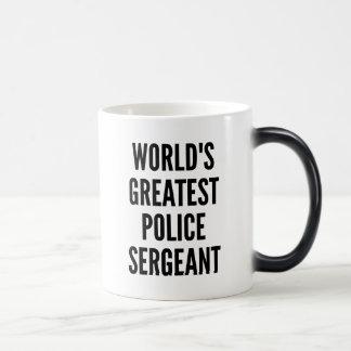 Worlds Greatest Police Sergeant Magic Mug
