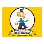 WORLDS GREATEST POLICEWOMAN CARTOON POSTCARD