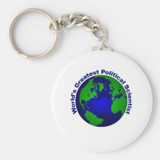 World's Greatest Political Scientist Basic Round Button Keychain