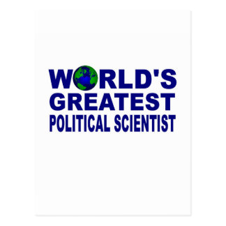 World's Greatest Political Scientist Postcard