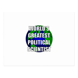 World's Greatest Political Scientist Postcard
