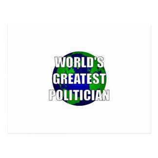 World's Greatest Politican Postcard