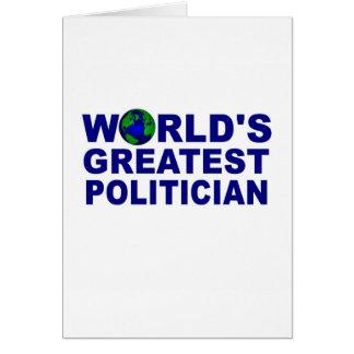 World's Greatest Politician Card