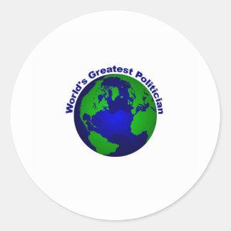 World's Greatest Politician Classic Round Sticker