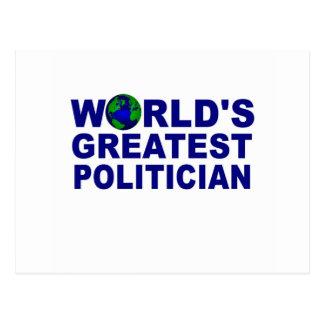 World's Greatest Politician Postcard